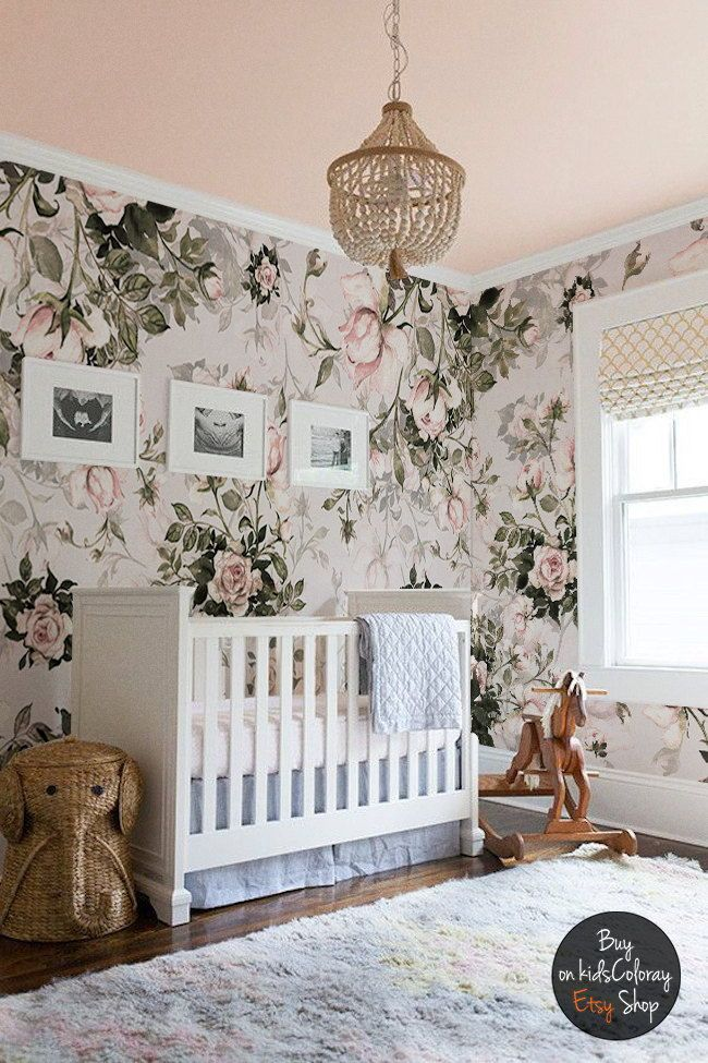 This baby girl nursery wallpaper is divine apparently you can apply this baby girl nursery wallpaper is divine apparently you can apply and peel it multiple times because of its self adhesive removable material solutioingenieria Choice Image