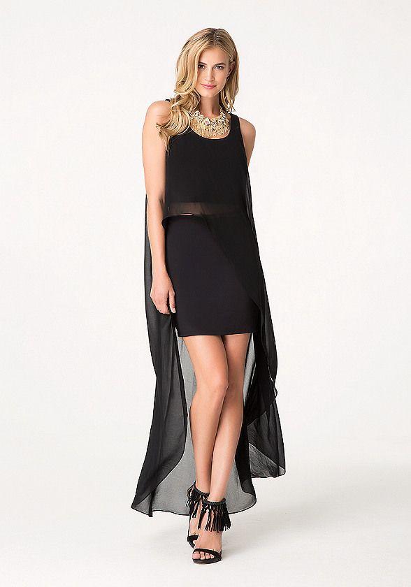 b1d8b9bd542 Solid Chiffon Hi-Lo Dress - Dresses