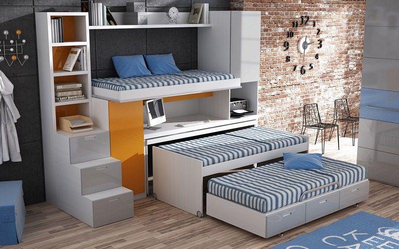 Resultado de imagen para dormitorios juveniles para - Muebles infantiles para habitaciones pequenas ...