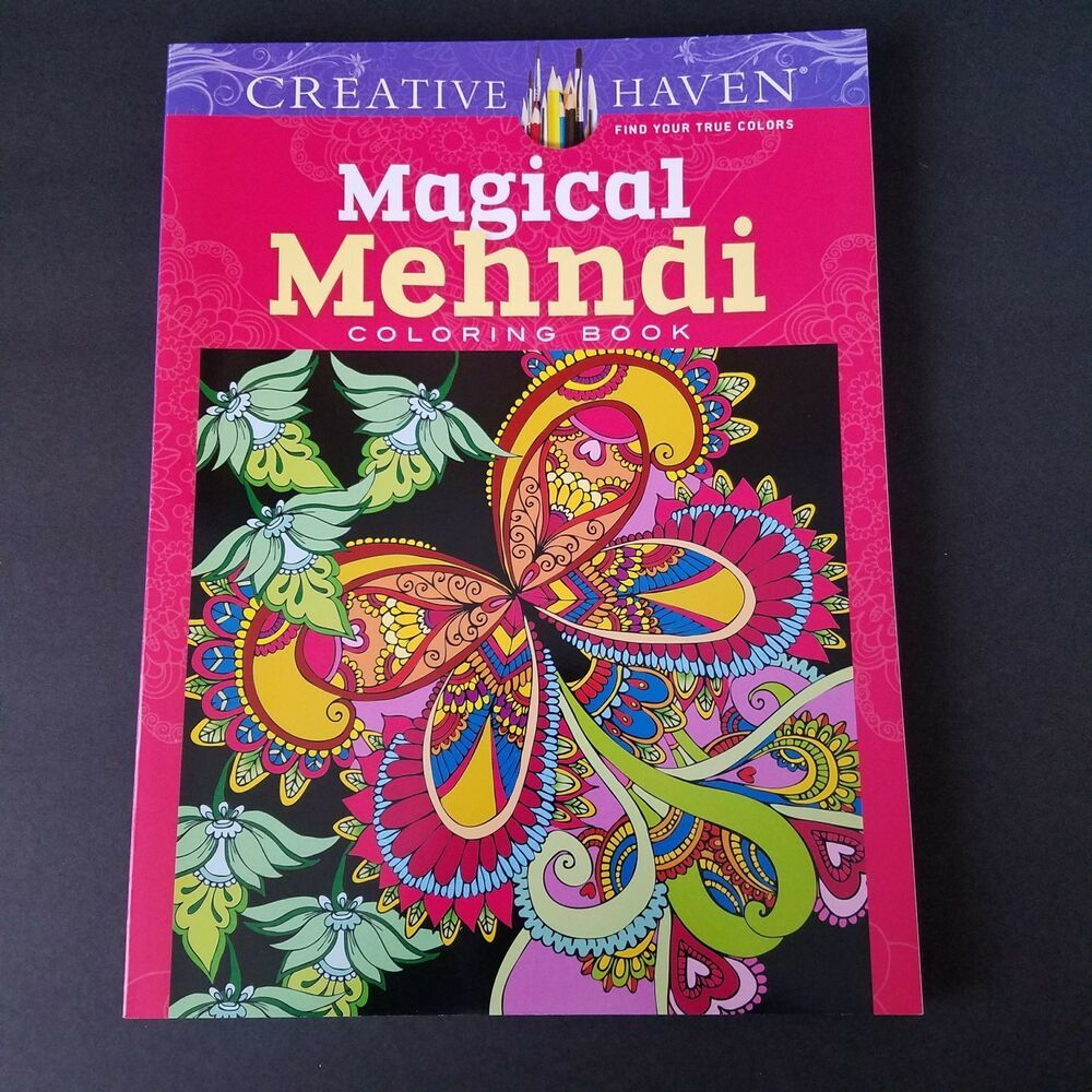 Details about creative haven magical mehndi adult coloring