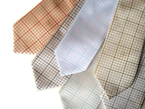 Graph paper necktie Engineering grid paper tie Silkscreened - engineering graph paper template