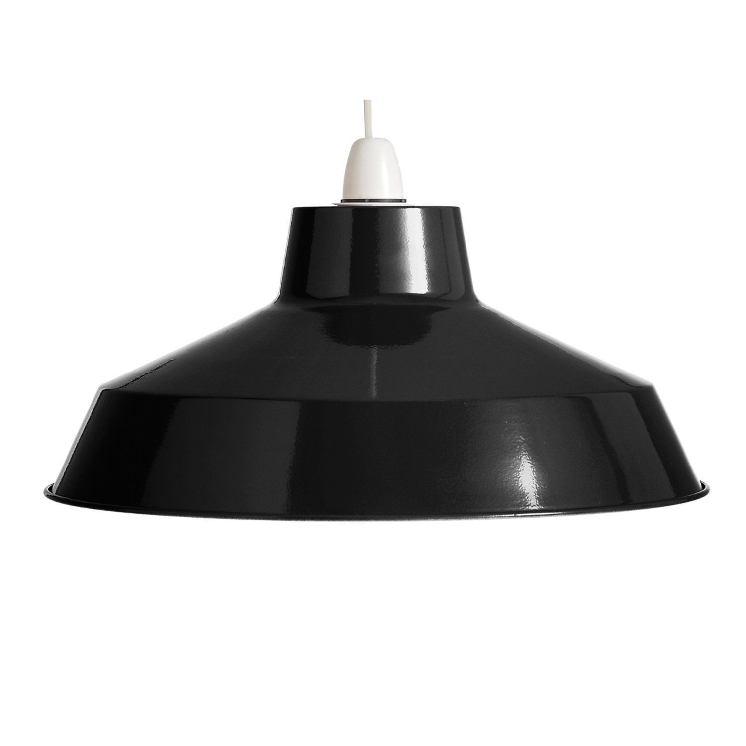 Sp390 Bk 35cm Classic Black Metal Pluto Ceiling Pendant Shade Amazon Co Uk Lighting Cont Metal Ceiling Lighting Contemporary Lamp Shades Modern Lamp Shades