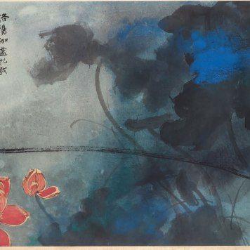t ches d encre et de couleur d un maitre chinois zhang daqian chines calligraphie peinture. Black Bedroom Furniture Sets. Home Design Ideas