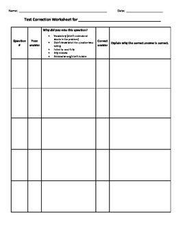 test templates for teachers - test correction ws school time pinterest classroom