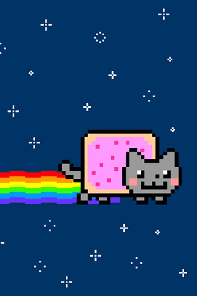 Nyan Cat Hd Wallpaper By On Nyan Cat Funny Phone Wallpaper Cat Wallpaper