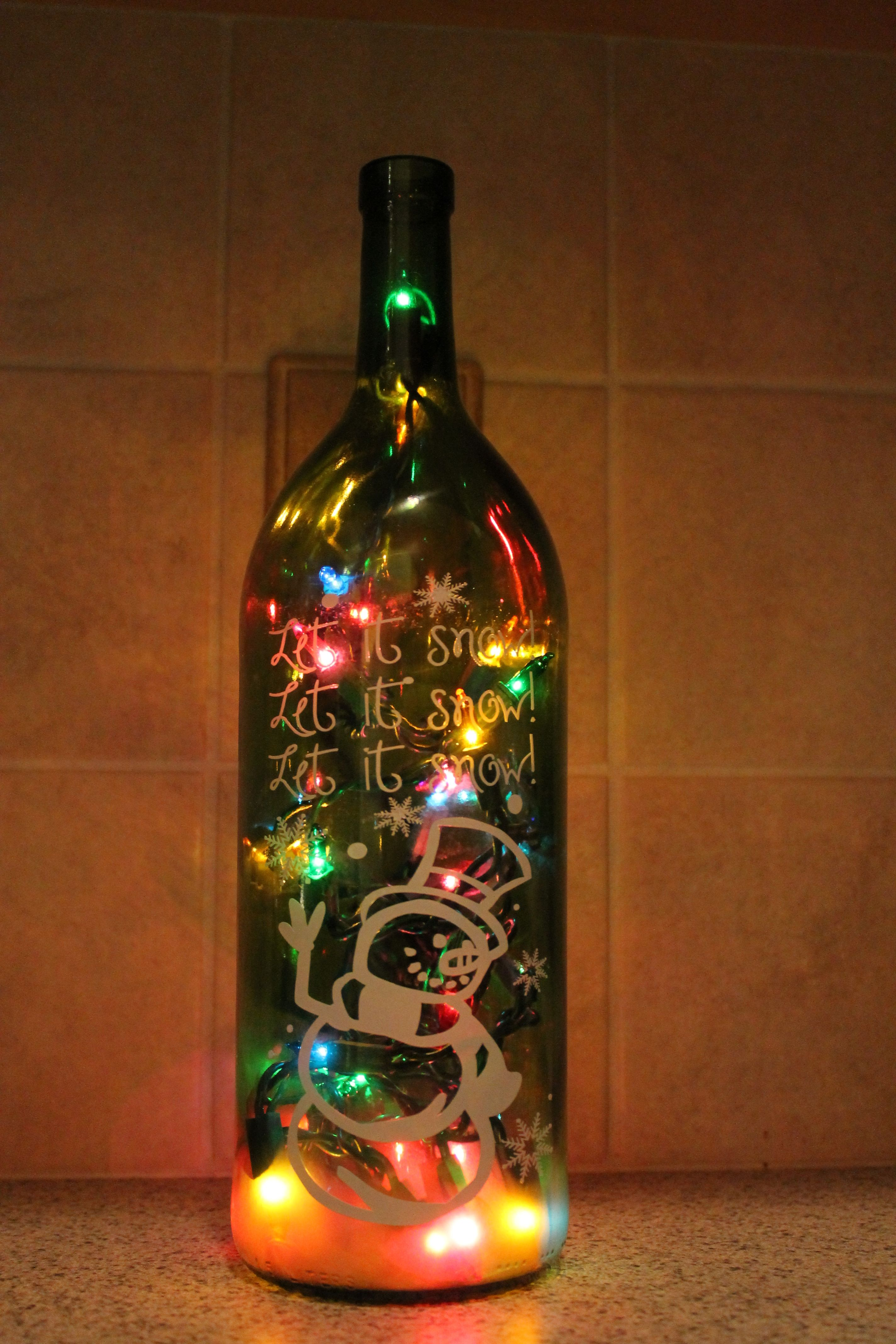Our unique lighted wine bottles make a