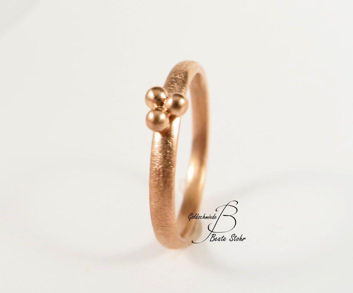 Ring mit 3Kugeln in 585/- Roségold  Ring verlobung