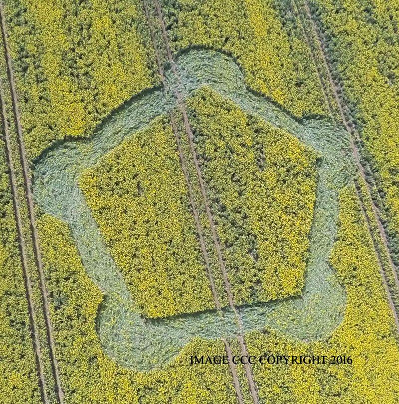 Crop circles in England, May 6, 2016