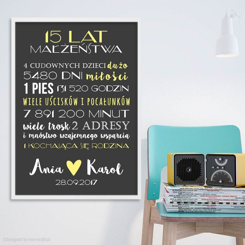 Pin Na Plakaty Love Slub Rocznica