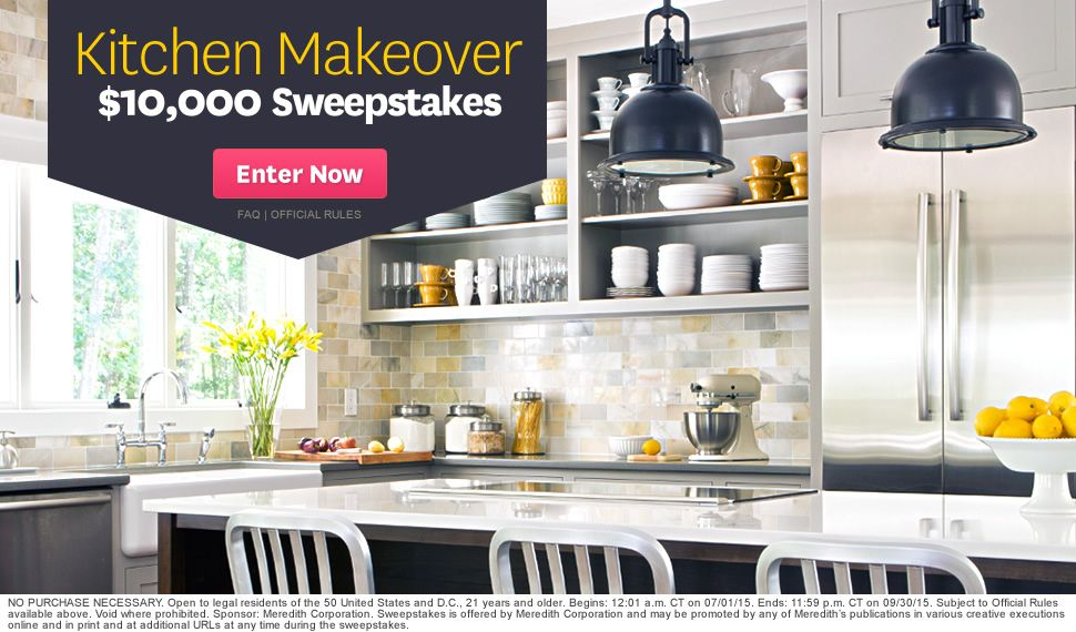 10 000 Kitchen Makeover Sweepstakes