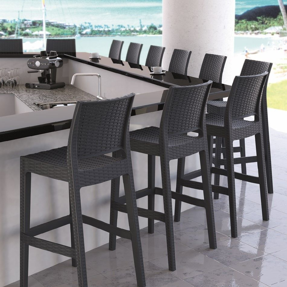20 Comfortable Outdoor Bar Stools Modern Contemporary Furniture