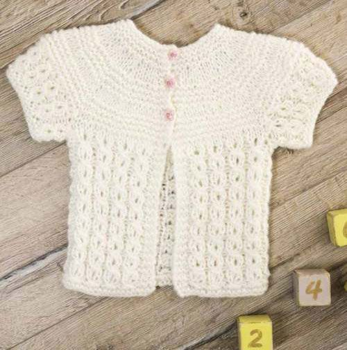 Short Sleeved Cardigan Free Knitting Pattern For Infants Knitting