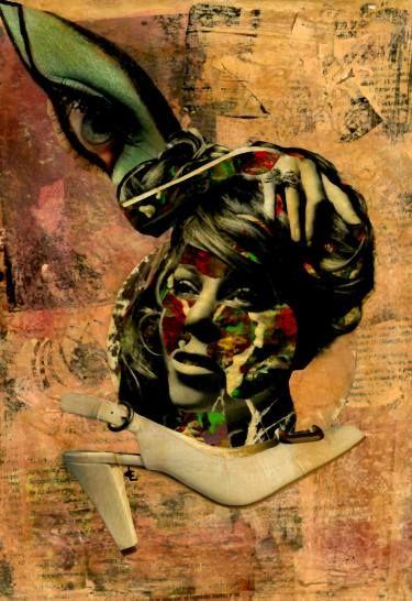 "Saatchi Art Artist CARMEN LUNA; Collage, ""25- Collagemania. Mariah Carey."" #art"