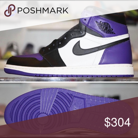 Court Purple Air Jordan 1 They are all in good condition