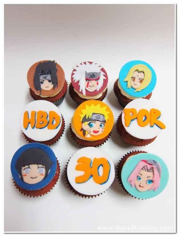 12 Pieces Cupcake Topper Cake Picks NARUTO SHIPPUDEN