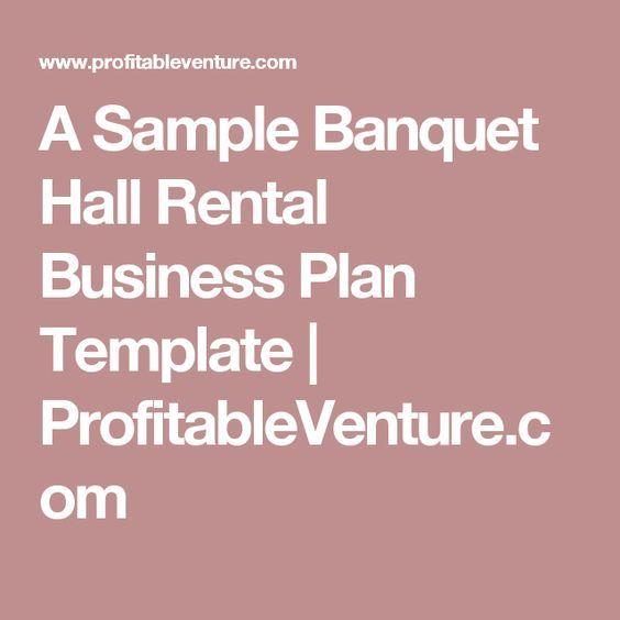 A Sample Banquet Hall Rental Business Plan Template - Banquet hall business plan template