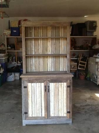 p stepback hutch reclaimed top with amish pid barnwood open farmhouse