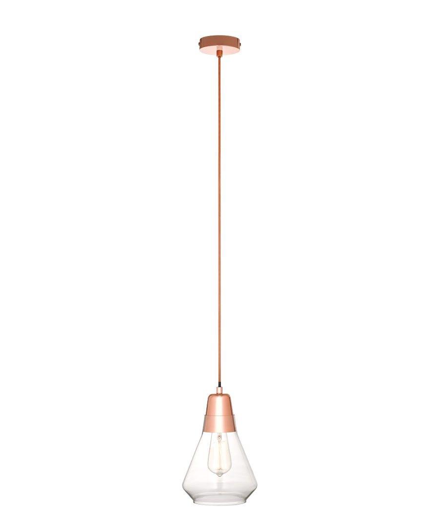Ando 1 Light Pendant In Copper/Glass