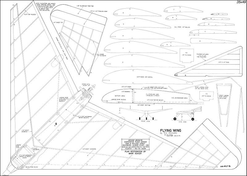 model flying wing plans