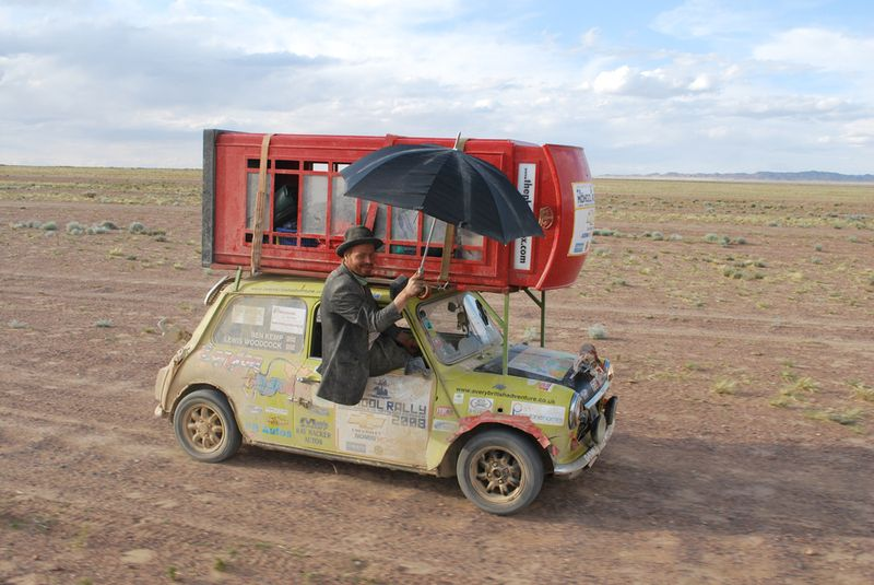 Great way to store your luggage #MongolRally
