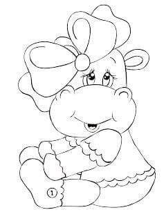 Hipopotamo Bebe Pinturas Pintar En Tela Patrones De Bordado