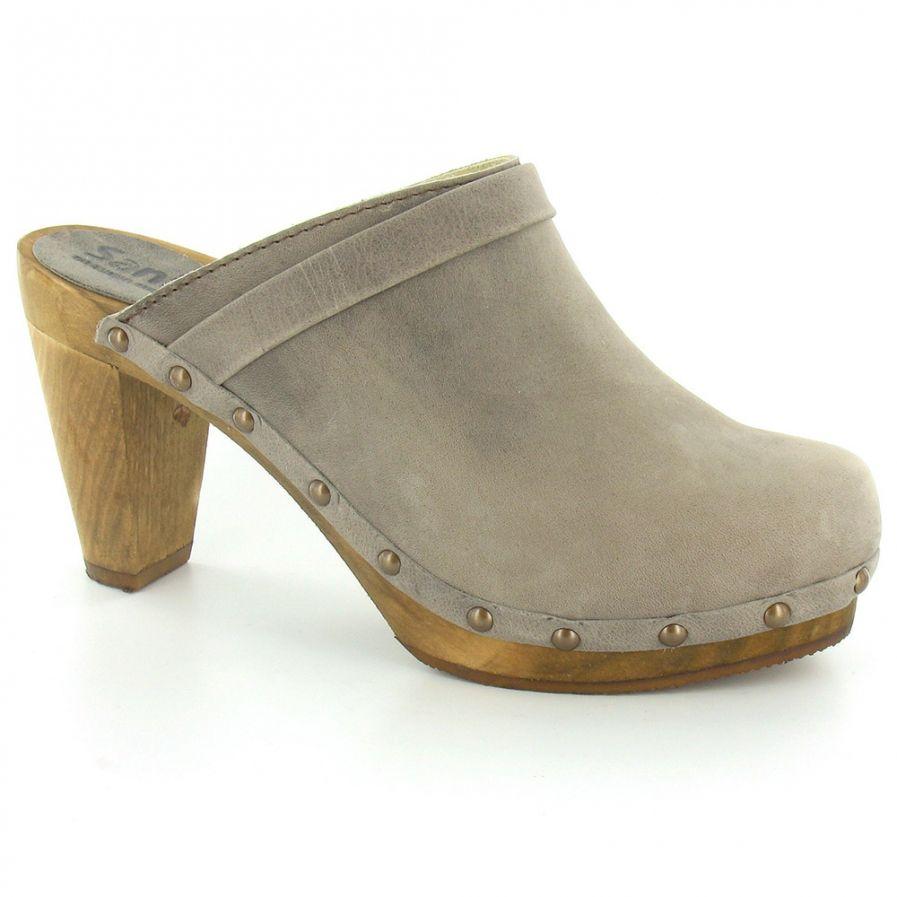 high heel clogs sanita sanita womens leather high