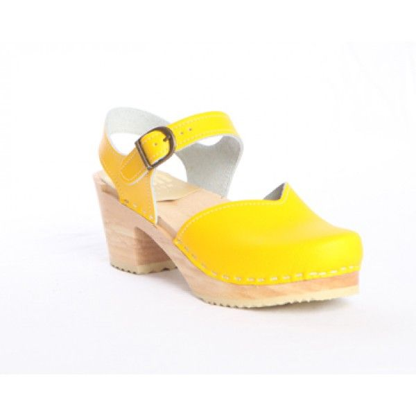 CHRISTIAN LOUBOUTIN Zuecos amarillo
