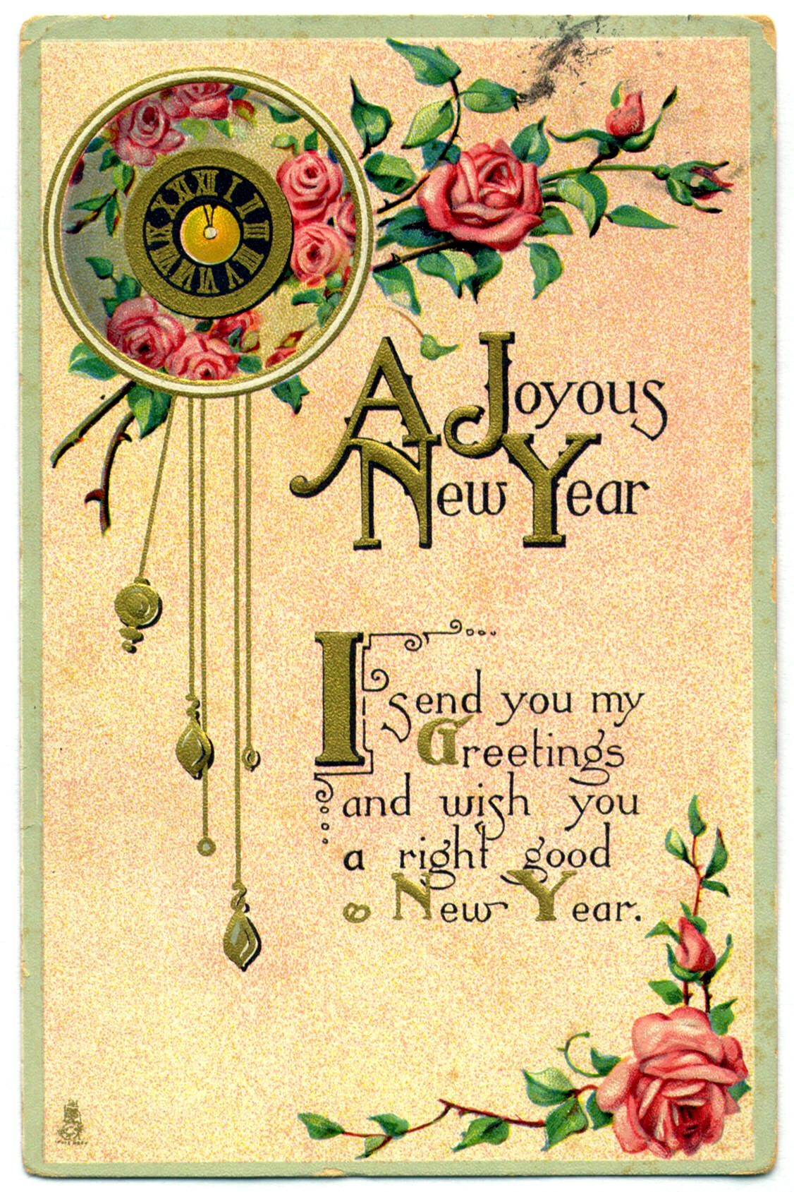 A joyous new year i send you my greetings and wish you a right a joyous new year i send you my greetings and wish you a right good kristyandbryce Choice Image