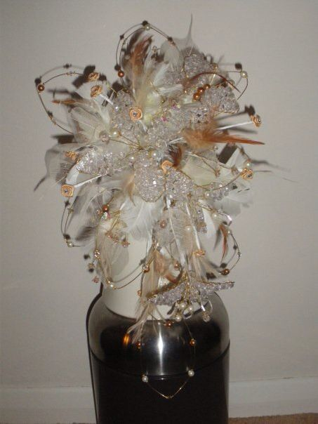 Crystal bouquet I made for a bride