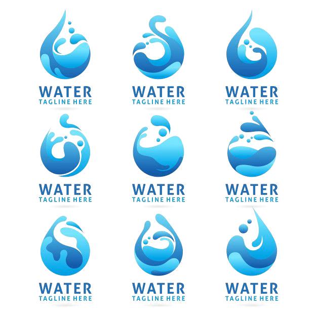 Collection Of Water Logo Design With Splash Effect Premium Vector Premium Vector Freepik Vector Logo Business Abstract Water Desain Logo Desain Sketsa