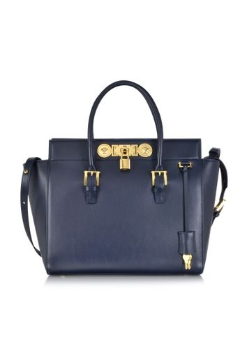 d7ecbe3e1b Versace Large Signature Lock Handbag  2