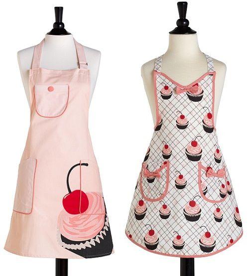 Vintage Aprons For Women | Cupcake-Aprons-Kawaii-Cute-Aprons