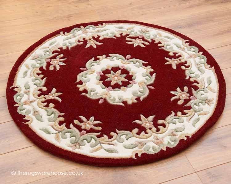 Royal red circle rugs royal red wool rug