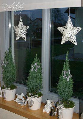 Elegante Eingangsdeko für die Winterzeit | Weihnachtsdeko, Winterdekorationen