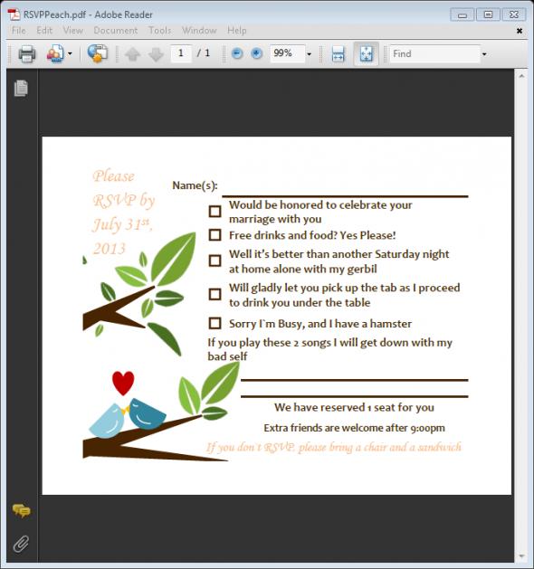 Designed My Own Invite wedding brown diy diy invites