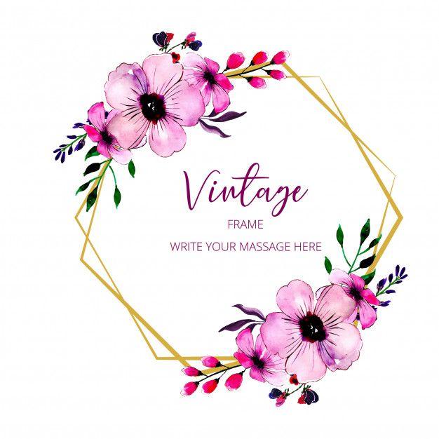 Vintage Frame Vintage Floral Backgrounds Flower Frame Vintage Frames