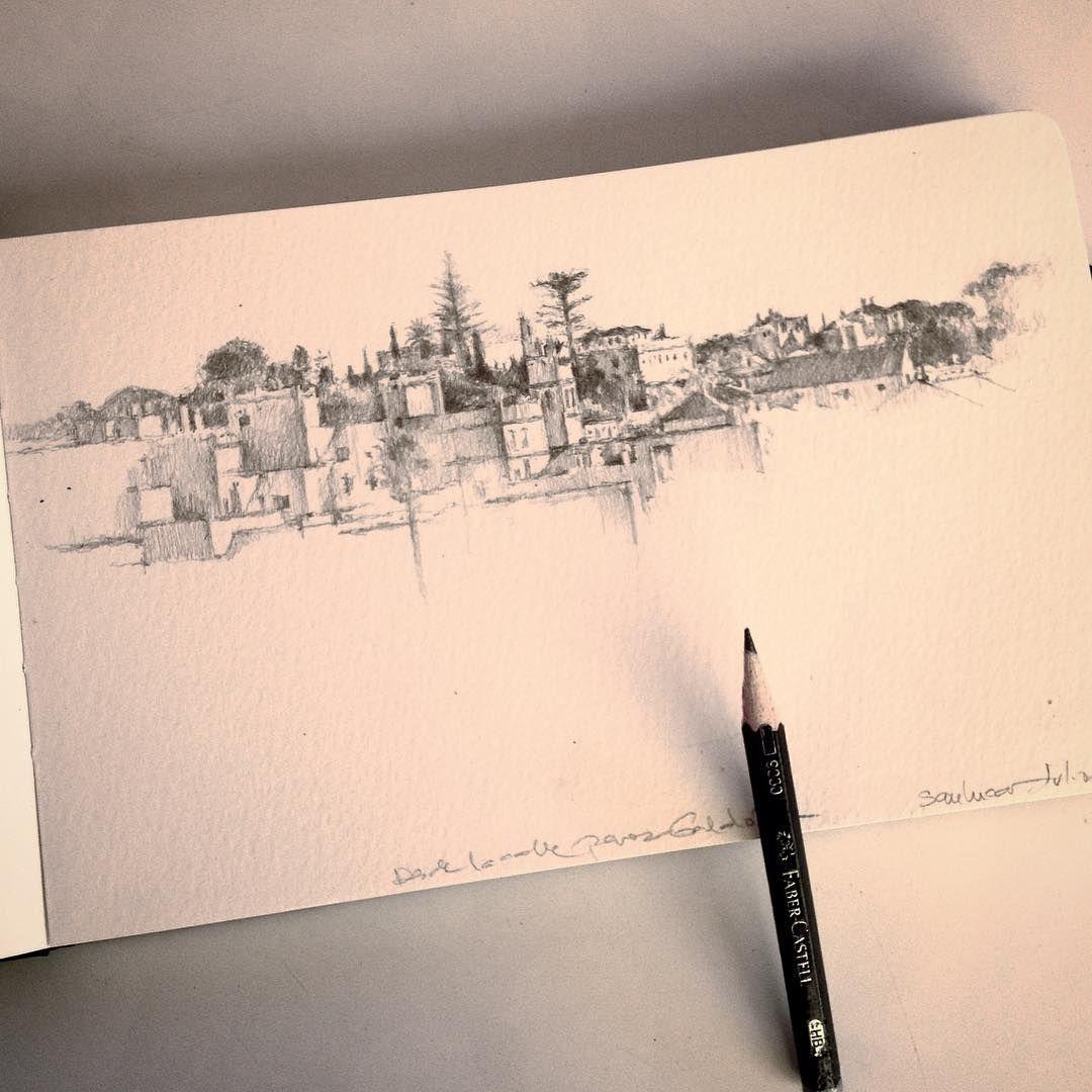 Skyline Of Sanlucar De Barrameda Pencil Art Art Graphite Pencils