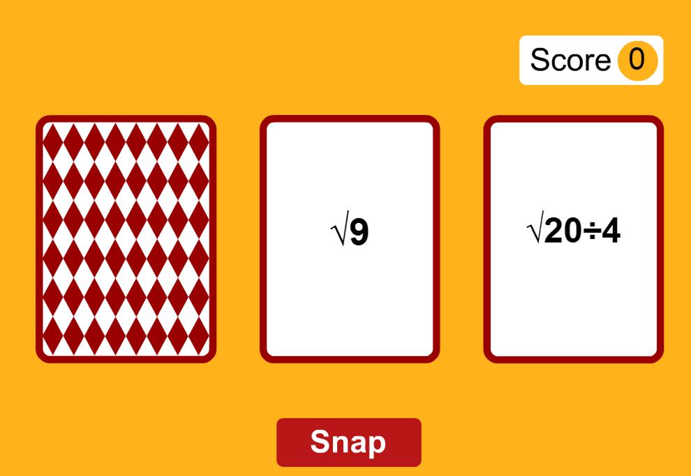 Surd Snap Game Surds Pinterest Math Arithmetic And Math