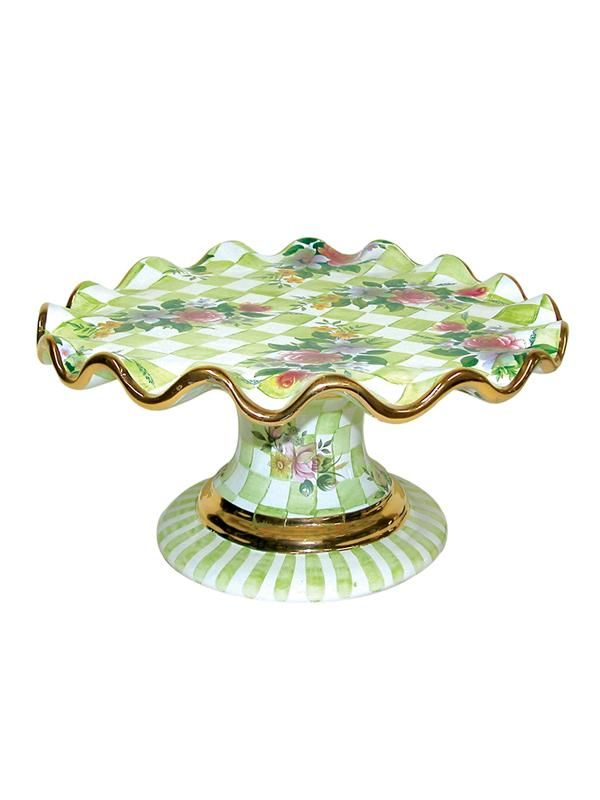 MacKenzie-Childs - Honeymoon Fluted Cake Stand-Green - at - London ...