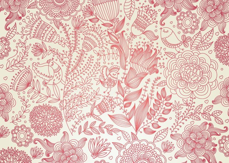 antique-wallpapers-392-vintage-floral-design-vector ...