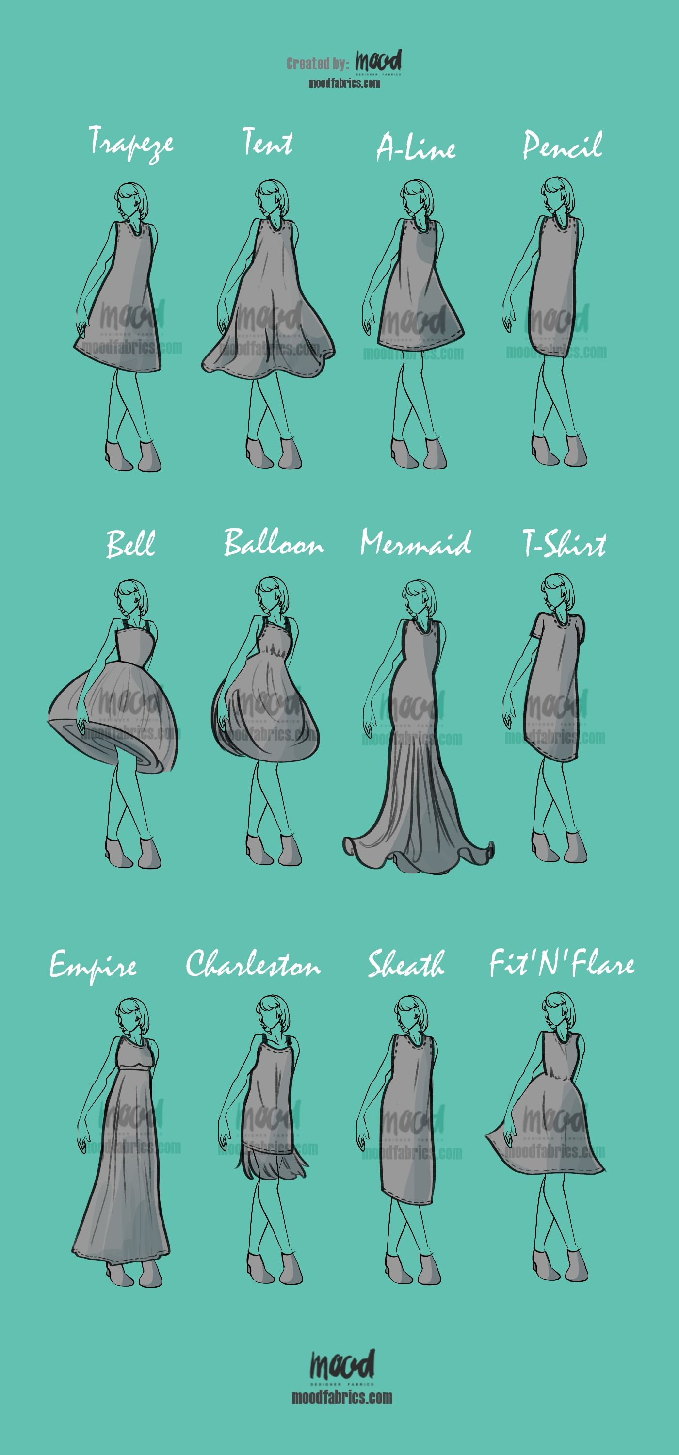 All About Dress Silhouettes Clothe S Reference