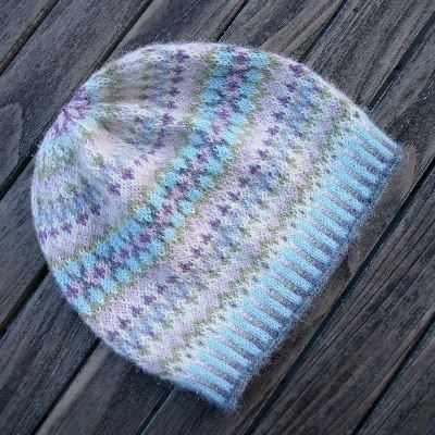 "Ladies' ""Gentle Hat"" by Mary Ann Stephens. Knit in 7 different ..."