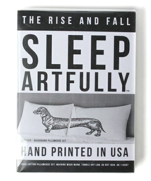 "Dachshund Pillowcase Set - ""SLEEP ARTFULLY"" RISE&FALL [BEAMS Online Shop]"