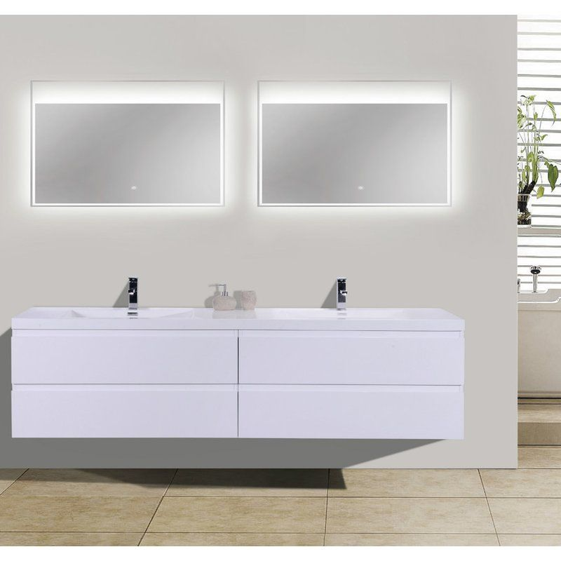 Lina 70 Wall Mounted Double Bathroom Vanity Set Modern Bathroom