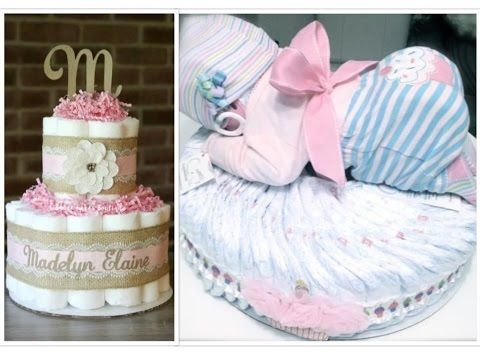 How To Make A Sleeping Baby Out Of Diapers Diy Diaper Cake