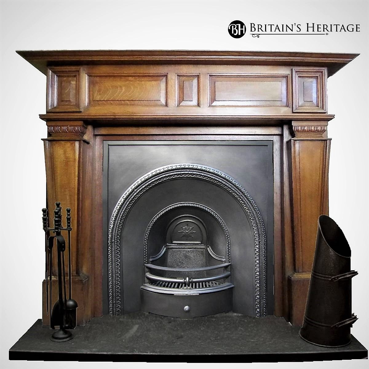 19th Century Arched Victorian Fireplace Insert Victorian