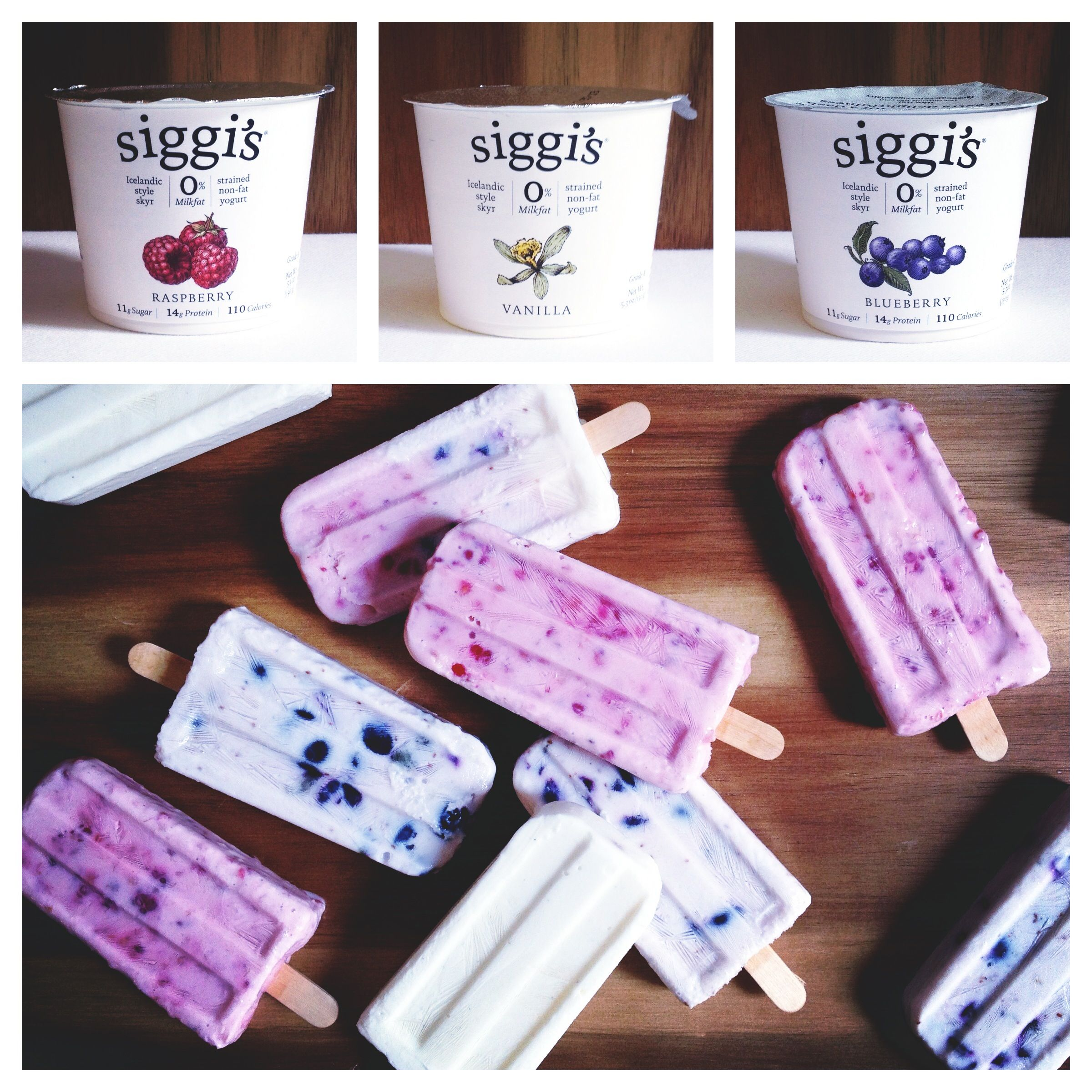 Berry popsicles made with real fruit and siggi 39 s yogurt for Who invented frozen popsicles and in what year