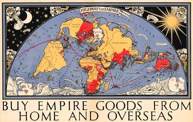 Illustration of global map highlighting the british empire buy illustration of global map highlighting the british empire buy empire goods from home and overseas gumiabroncs Choice Image