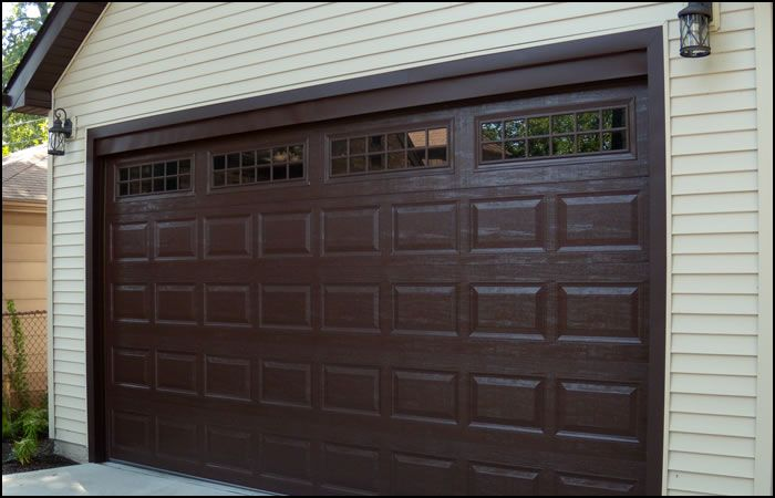 Raised Panel Steel Garage Doors Brown Garage Door Garage Door Windows Garage Doors