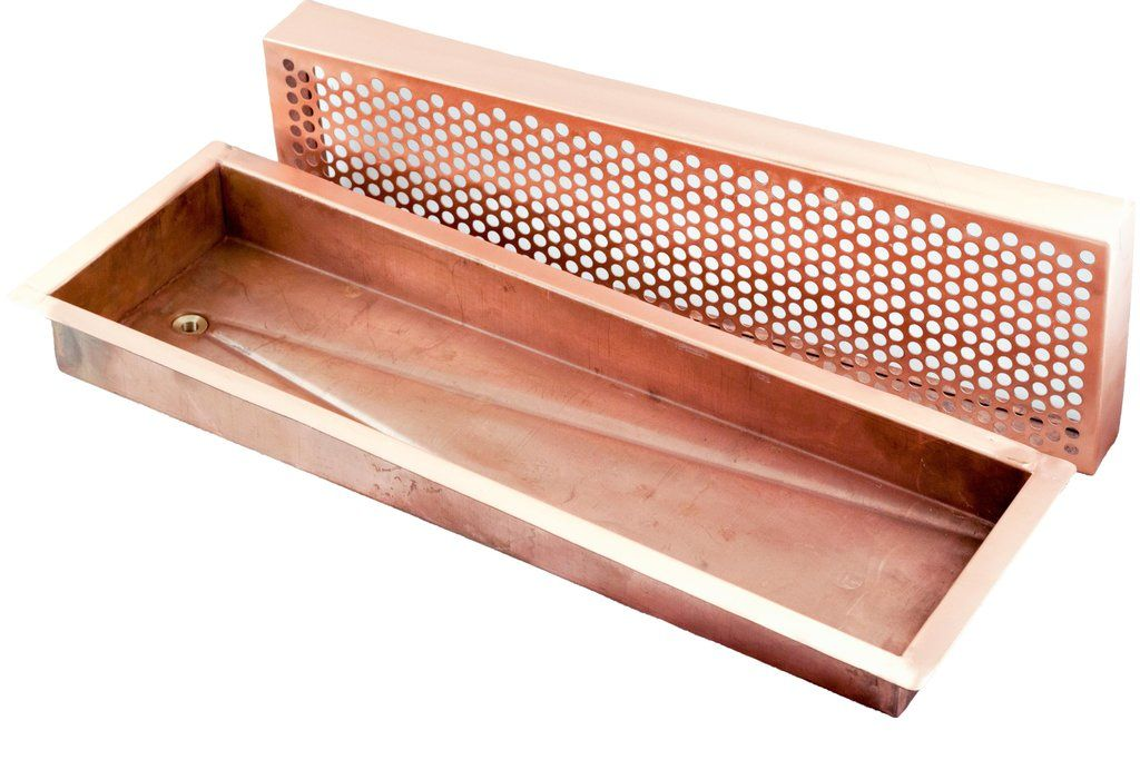 Long Copper Drain Tray Tray Drip Tray Copper